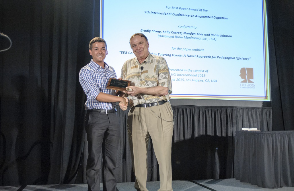 Best Paper Award for the 9th International Conference on Augmented Cognition