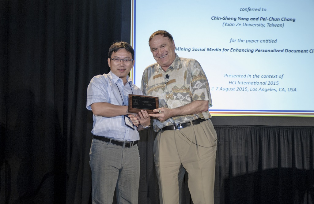 Best Paper Award for the 2nd International Conference on HCI in Business
